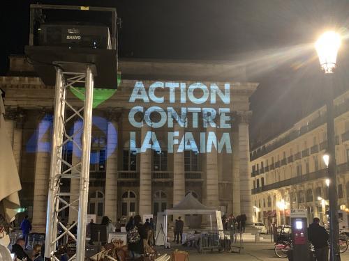PROJECTION SUR LE THEATRE DE DIJON POUR ACTION CONTRE LA FAIM